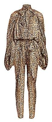 Zimmermann Women's Eye Spy Leopard Silk Jumpsuit