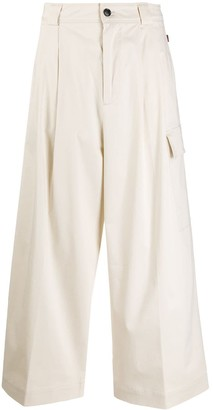 Woolrich Cropped Palazzo Trousers