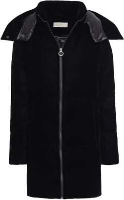 MICHAEL Michael Kors Quilted Velvet Hooded Down Coat