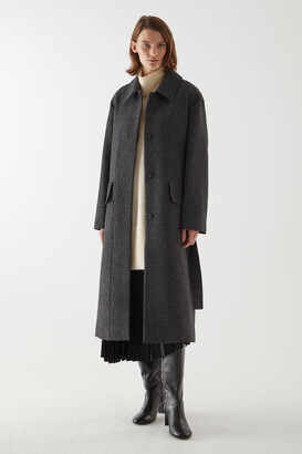 Cos Belted Wool Trench Coat