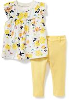 Old Navy 2-Piece Ruffle-Sleeve Top and Pants Set for Baby