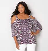 Avenue Batik Floral Cold Shoulder Tunic