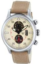 Torgoen Pilot T33 Series T33402 45mm Stainless Steel Case Beige Nylon Mineral Men's Watch