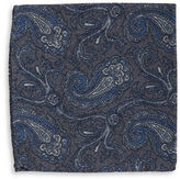 Black Brown 1826 Paisley Patterned Pocket Squares