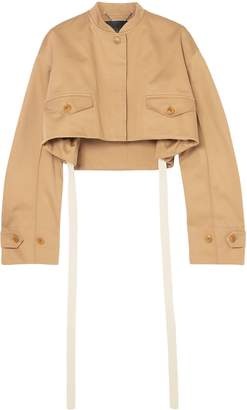 Givenchy Cropped Cotton-drill Bomber Jacket
