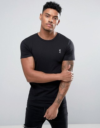 Religion muscle fit crew neck logo t-shirt in black