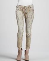 Current/Elliott The Low-Rise Stiletto Southwestern-Print Jeans