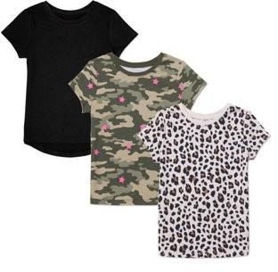 Garanimals Printed Short Sleeve T-Shirts, 3-Pack (Toddler Girls)