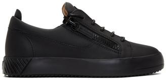 Giuseppe Zanotti Black Rubberized Leather Frankie Sneakers
