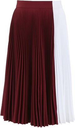 Calvin Klein Colour Block Pleated Skirt