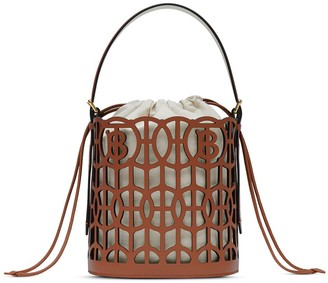 Burberry Laser-Cut Leather Bucket Bag