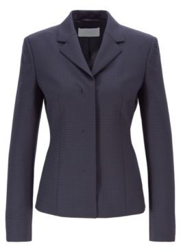 Slim-fit jacket in Italian fabric with shadow check