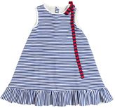 Simonetta Stripes Printed Cotton Interlock Dress