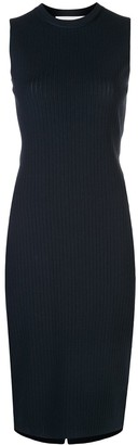 Victoria Beckham Knitted Ribbed Midi Dress