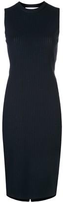 Victoria Beckham Knitted Ribbed Midi Dress