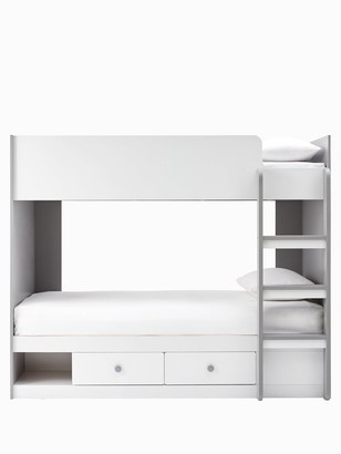 Peyton Storage Bunk Bed with Mattress Options (Buy and SAVE!) - White/Grey