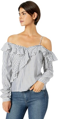 Cupcakes And Cashmere Women's Jessilyn Striped Blouse