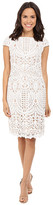NUE by Shani Embroidered Lace Dress w/ Piping Detail