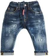 DSQUARED2 Destroyed Stretch Denim Jeans