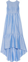 Co Tiered Ramie-blend Maxi Dress - Light blue