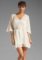 LAmade Elbow Sleeve Shirred Dress