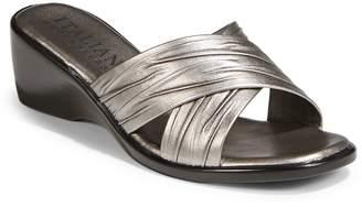 Italian Shoemakers 168 Metallic Wedge Slides