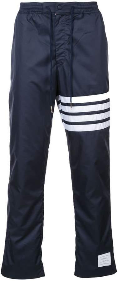 Thom Browne Seamed 4-Bar Stripe Ripstop Pants