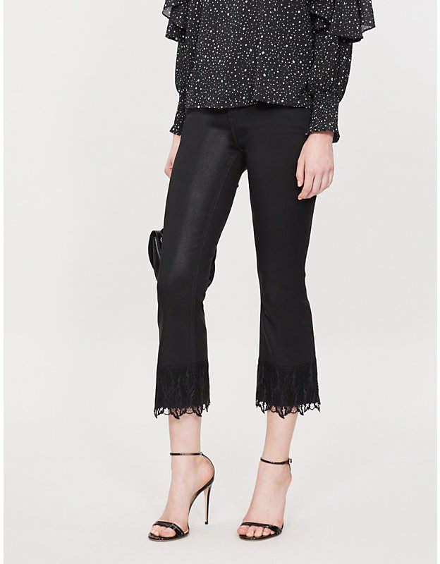 J Brand Selena bootcut mid-rise coated jeans