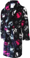 Mattel Monster High Girls Skulls Plush Robe Bathrobe Pajamas M 7/8