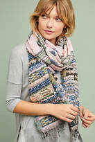 Anthropologie Rosy Plaid Wool Scarf