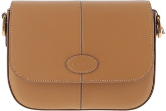 Tod's Brown Leather Mini Shoulder Bag