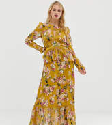 Forever New maxi dress with lace details in floral print