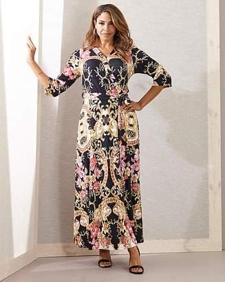 Joanna Hope Scarf Print Wrap Maxi Dress
