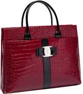 Crazy Women Alligator Pattern Shoulder Strap PU Leather Tote Style Handbags