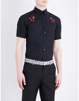 Alexander Mcqueen Bird-embroidered Regular-fit Cotton Shirt