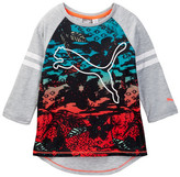 Puma Printed Mesh Raglan Top (Big Girls)