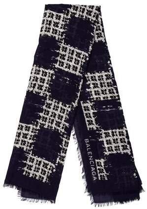 Balenciaga Wool & Silk-Blend Scarf