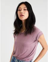 American Eagle AE Soft & Sexy Lace Trim Raglan T-Shirt