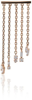 Suzanne Kalan Fringe 18K rose gold and diamond earrings