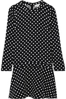 MICHAEL Michael Kors Evelyn Polka-dot Jersey Mini Dress - Black