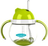 Lansinoh mOmma Dual Handle Straw Cup - Green - 8.4 oz