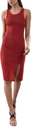 Reiss Charlie Knitted Rib Dress