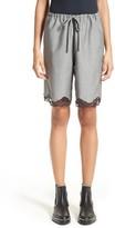 Alexander Wang Women's Lace Trim Wool Board Shorts