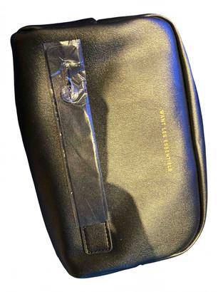 WANT Les Essentiels Black Leather Travel bags