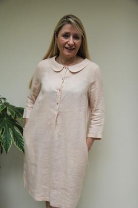 GR Nature - Hara Linen Dress Pale Peach - small | linen | peach - Peach