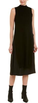 Acrobat Mock Neck Wool-Blend Midi Dress