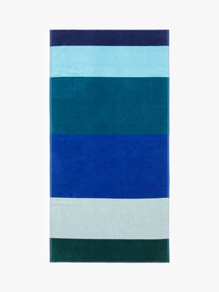 John Lewis & Partners Block Stripe Beach Towel