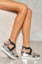 Nasty Gal nastygal In the Light Metallic Platform