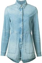 Ksubi longsleeved denim playsuit - women - Cotton - M