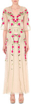 Temperley London Floral-embroidered lace dress